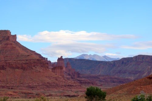 Road 128 to Arches National Park Utah  Utah Fisher Towers Camping